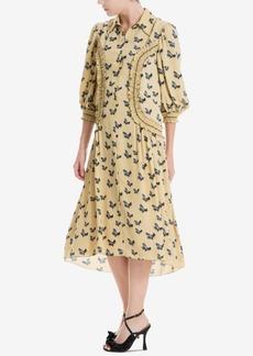 Max Studio London Bishop-Sleeve Ruffled Dress, Created for Macy's