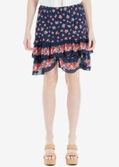 Max Studio London Cotton Floral-Print Ruffled Skirt, Created for Macy's