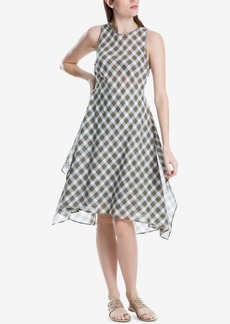 Max Studio London Cotton Printed Fit & Flare Dress, Created for Macy's