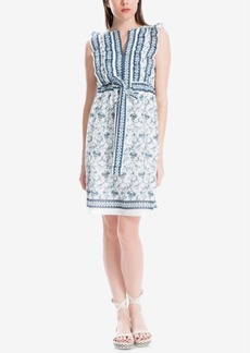 Max Studio London Cotton Ruffled Dress, Created for Macy's