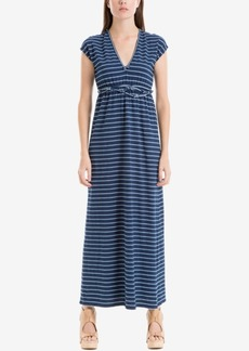 Max Studio London Cotton Striped Maxi Dress