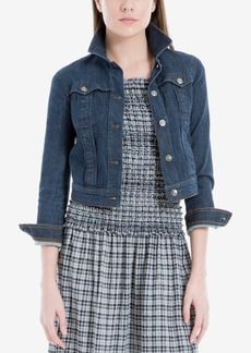 Max Studio London Cropped Denim Jacket, Created for Macy's