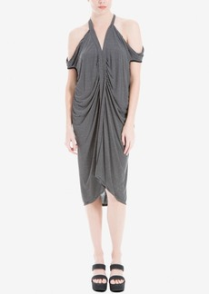 Max Studio London Draped Cold-Shoulder Dress