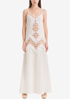 Max Studio London Embroidered Maxi Dress