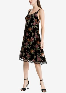 Max Studio London Floral-Print Lace-Trim Dress, Created for Macy's