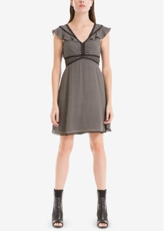 Max Studio London Flutter-Sleeve A-Line Dress