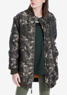 Max Studio London Horse-Print Camo Bomber Jacket, Created for Macy's