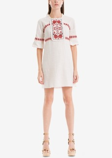 Max Studio London Juliette Cotton Embroidered Shift Dress