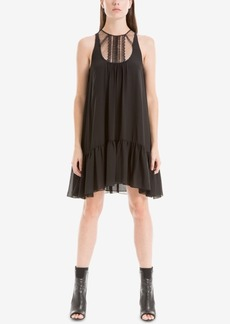 Max Studio London Lace-Contrast Trapeze Dress