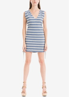 Max Studio London Lace-Up Striped Dress