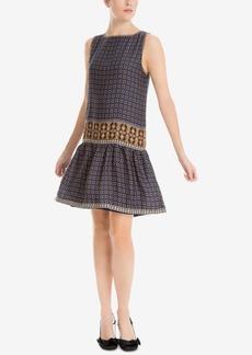 Max Studio London Mixed-Print Drop-Waist Dress, Created for Macy's