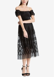 Max Studio London Off-The-Shoulder Jacquard Dress, Created for Macy's