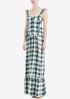 Max Studio London Plaid Maxi Dress, Created for Macy's