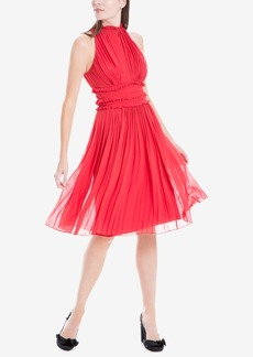 Max Studio London Pleated Crepe Dress, Created for Macy's