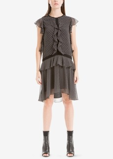 Max Studio London Printed Ruffled Dress