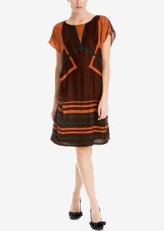 Max Studio London Printed Velvet Dress
