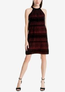 Max Studio London Printed Velvet Dress, Created for Macy's