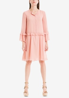 Max Studio London Ruffled Drop-Waist Shift Dress