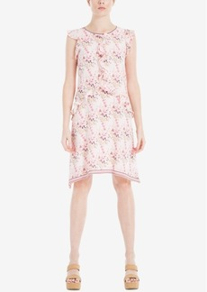 Max Studio London Ruffled Floral-Print Dress