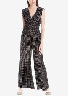 Max Studio London Smocked Dot-Print Jumpsuit, Created for Macy's
