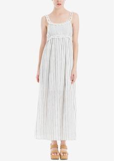 Max Studio London Striped & Ruffled Maxi Dress, Created for Macy's