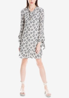 Max Studio London Tie-Neck Flounce Dress, Created for Macy's