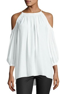 Max Studio Long Sleeve Cold Shoulder Bl