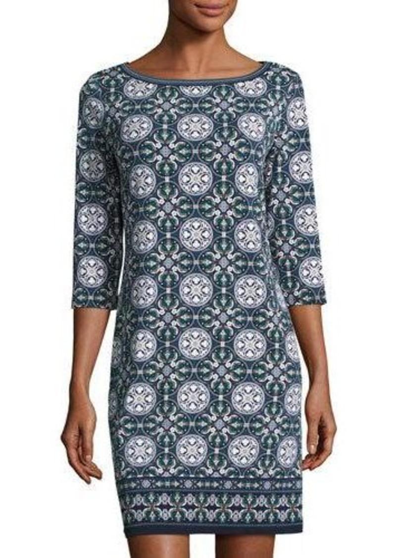 7964c2d5290baa Max Studio Max Studio Long-Sleeve Geometric-Print Sheath Dress   Dresses