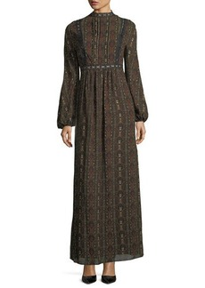 Max Studio Long-Sleeve Maxi Dress