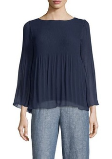 Max Studio Long Sleeve Pleated Top