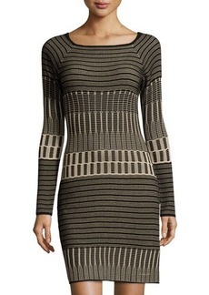 Max Studio Long-Sleeve Sweater Dress