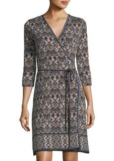 Max Studio Matte Jersey Self-Tie Wrap Dress