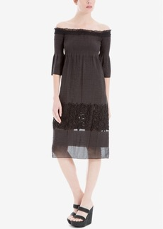 Max Studio Off-The-Shoulder Jacquard Dress, Created for Macy's