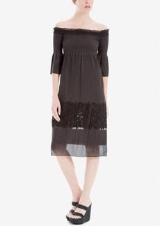 Max Studio Off-The-Shoulder Jacquard Dress
