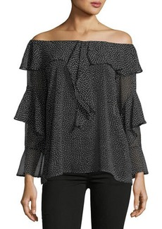 Max Studio Off-The-Shoulder Ruffle Blouse