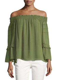 Max Studio Off-the-Shoulder Tiered Blouse