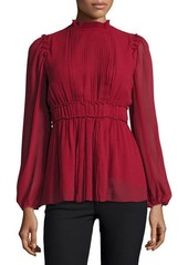 Max Studio Pleated Bell-Sleeve Tunic Top