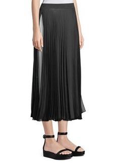 Max Studio Pleated Maxi Skirt