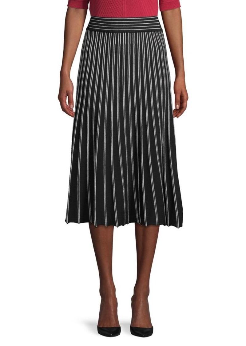 Max Studio Pleated Midi Sweater Skirt
