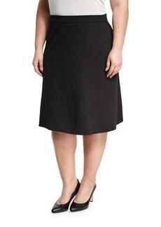 Max Studio Plus Ponté A-line Skirt