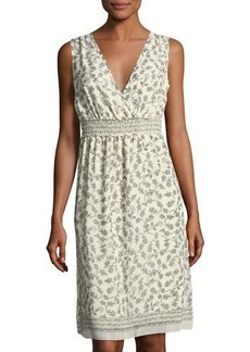 Max Studio Plus Printed Georgette Dress