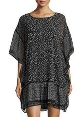 Max Studio Printed Crimped Shirting Dress