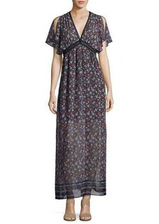 Max Studio Printed-Georgette Maxi Dress