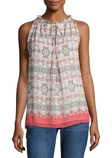 Max Studio Printed Georgette Sleeveless Blouse