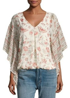 Max Studio Printed-Georgette Top