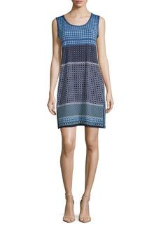 Max Studio Printed Side-Slit Sleeveless Dress