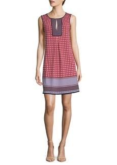 Max Studio Printed Sleeveless Yoke Dress