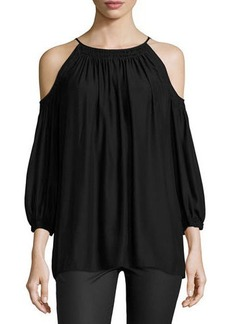 Max Studio Relaxed Cold-Shoulder Blouse