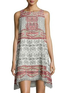 Max Studio Relaxed Mosaic-Printed Dress
