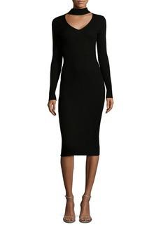 Max Studio Ribbed Choker Dress